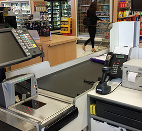 Supermarket POS installation